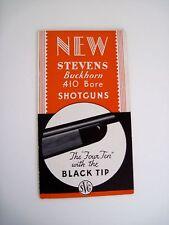 "Vintage Waffe Werbung für "" J.Stevens Waffen Company "" Buckhorn Schrotflinte"