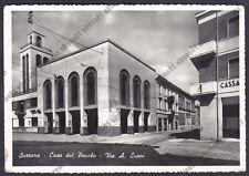 MANTOVA SUZZARA 05 CASA DEL POPOLO - BANCA Cartolina FOTOGRAFICA viaggiata 1952
