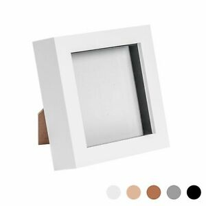Box Picture Frame Deep 3D Photo Display 4x4 Inch Square Standing Or Hanging