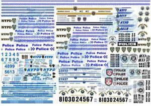 Police Decals in all scales up to 1:18 | NYPD, HWP, VIC & NSW Police Force etc