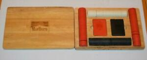 VTG Marlboro Poker set in solid maple wood case