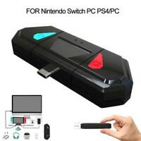 For Nintendo Switch PS4 PC TV HDMI Dock Wireless Audio Transmitter Adapter 1pcs