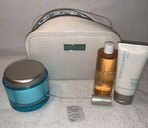 3 Pc MOROCCANOIL Body Buff Dry Body Oil & Hand Cream Set & bag NEW UNUSED $124