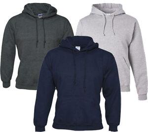 New Plain Mens Hoodie Blank Pullover Hooded Hoody Sweatshirt Gym Heavyweight Top