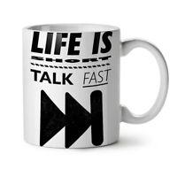 Life is Short Joke Funny NEW White Tea Coffee Mug 11 oz | Wellcoda