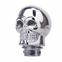 Universal Car Auto Chrome Manual Gear Stick Shift Lever Knob Shifter Skull Head