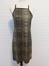 Women's Prana Ardor Dress Moss Green Lattice Back Sport Short Size Medium