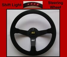 Race Rally Steering Wheel with Shift Light  -  High Quality - Universal - Suede
