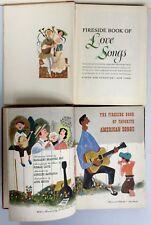 Set of 2 Fireside Books of Illustrated Music:Love Songs & American Songs 1950's