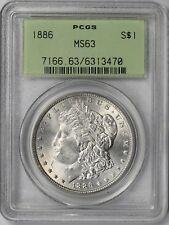 1886 Morgan Silver Dollar $1 MS 63 PCGS OGH Old Green Holder