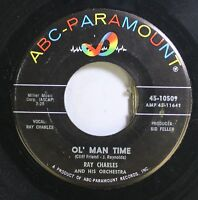 Soul 45 Ray Charles - Ol' Man Time / That Lucky Old Sun On Abc-Paramount