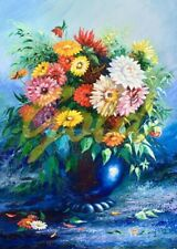 Puzzle Gold Puzzle 500 Teile - Flowers in Blue Vase (53996)