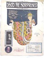 You'd be Surprised,JC Williamson,1920,Passing Show *Rare AUS ed Sheet Music*