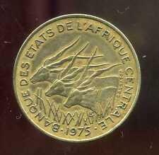 ETATS  AFRIQUE  CENTRALE 25 francs 1975  ANM ( 1 )
