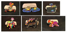 Six (6) Characters from Tulgey Wood Disney Alice In Wonderland Fantasy Pin LE50