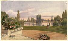 Raymond Noël ESBRAT(1809-1856) Paysage animé - Dessin ancien