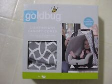 Goldbug Lightweight Canopy Cover for Baby Car Seat Grey & White Print / BNIB