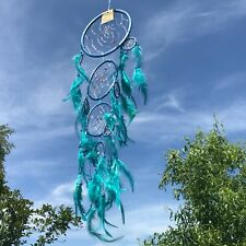 New Long Turquoise Blue Dream Catcher Native American Wall Hanging Mobile