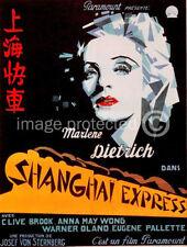 Shanghai Express Vintage Marlene Dietrich Movie Poster
