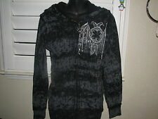 NWT Womens Affliction Brand Brand Reversible Hooded Sweatshirt sz.S~VERY COOL~