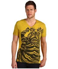 Just Cavalli V-Neck With Nepal Print T-Shirt US Sz 40 Brand New with Tags