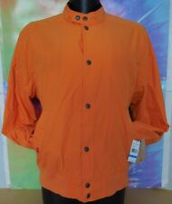 LEVI'S CAPITAL E Jacket NYLON RAIN WINTER LIGHT BUTTON UP LEVIS ORANGE JACKET XL
