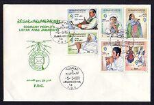 Libyen, Scott Cat. 1084-1089. Musiker Ausgabe auf einem Ersttagsbrief