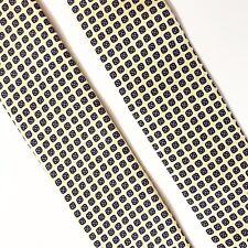 Trafalgar Yellow Silk Suspenders Brass Leather Braces Tabs Geometric Floral