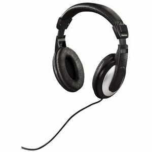 Hama TV Headphones Hi Fi Over Ear Stereo Long Lead 6M Cable With Volume Control