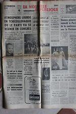 LA NOUVELLE REPUBLIQUE 22 JANV 1969 - TCHECOSLOVAQUIE GREFFE COEUR MONTREAL