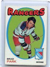 1971-72 TOPPS HOCKEY #40 BRAD PARK, NEW YORK RANGERS, 062817 (B)