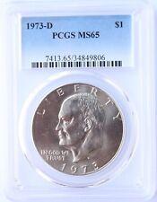 1973-D Eisenhower Ike Dollar PCGS MS65 Great Eye Appeal
