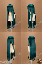 Long 80cm cosplay wig blackgreen D.Gray-man Lenalee Lee Adult Unisex, Green New