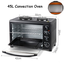 45L Large Portable Table Benchtop Hot Plates Rotisserie Convection Oven Electric