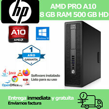 ORDENADOR HP AMD10 3,60ghz 8 GB RAM, 500 HD, VGA, WIFI A TU MEDIDA