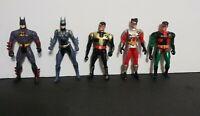 Kenner DC Comics BatMan,BatGirl,Robin's Figures Lot # 5