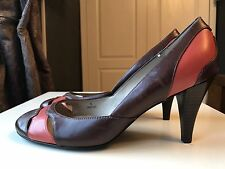 Marks & Spencer M And S Leather Ladies Women High Heel Shoe Court Size 4 37