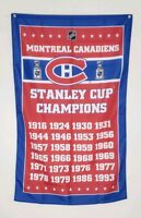 Montreal Canadiens Banner Stanley Cup Champions 3x5 Ft Flag NHL Hockey Man Cave