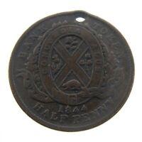 1844 Half Penny Province Canada Bank of Montreal Circulated Bank Token N261