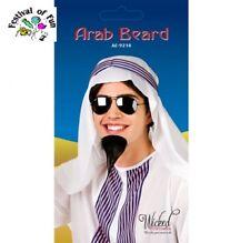 Arab Beard ~ False Goatee ~ Self Adhesive ~ Black ~ Fancy Dress Accessory