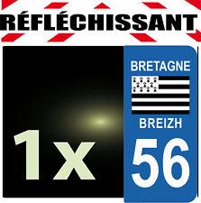 DEPARTEMENT 56 rétro-réfléchissant Plaque Auto 1 sticker autocollant reflectif