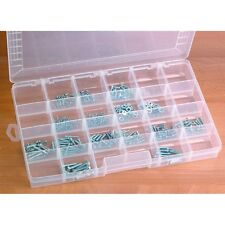 24 Compartment Clear Storage Container Adjustable Dividers PLASTIC PVC Large Box