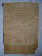 Documento notarial del siglo XV-XVI sobre pergamino