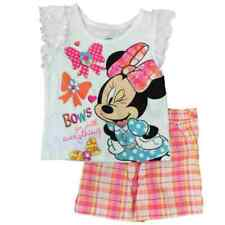 Disney Minnie Mouse Girls Swim Shirt With Bathing Suit UPF 50 Red White 3t