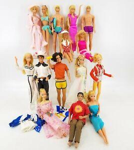 80s Superstar Era Barbie Ken Dolls Lot - Pink N Pretty Beauty Secrets Sun Lovin'