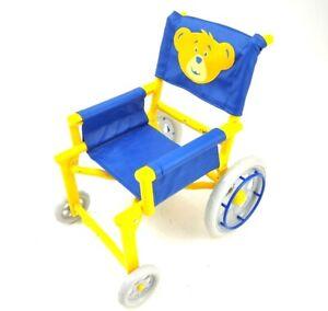 "Build A Bear Workshop Animal Wheelchair Blue Yellow & Grey 11"" x 9"" x 8"" Used"