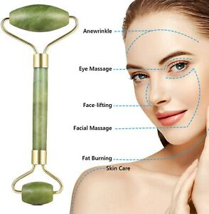 Jade Roller Face Massagers  Tool Beauty Facial Eye Neck Body Anti Ageing Therapy