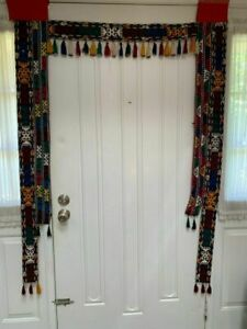 Antique Embroidery Strips Door Surround Uzbek Vintage Handmade Door Frame
