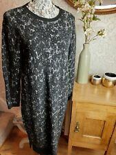 White Stuff black wool blend jumper dress size UK14 new £65