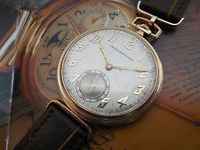 14K SOLID GOLD ANTIQUE 1921 IWC INTERNATIONAL WATCH 45mm